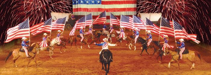 Branson The Dixie Stampede is one of the most popular shows in Branson. Photo courtesy of Branson/Lakes Area CVB.
