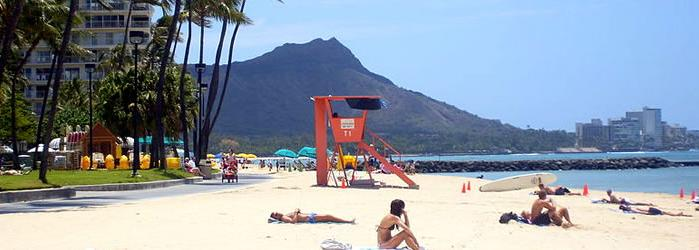 Honolulu Beautiful beaches are under the watchful eyes of volcanic mountains surrounding Honolulu.